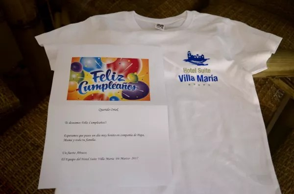 Fotos de Tenerife, camiseta de regalo Hotel Suite Vilal Maria