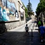 Fotos de Vitoria en Euskadi, Vero, Teo y Oriol murales