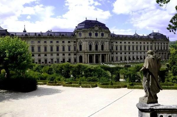 Fotos de Wurzburgo en Alemania, Residencia y jardines