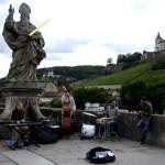 Fotos de Wurzburgo en Alemania, musicos