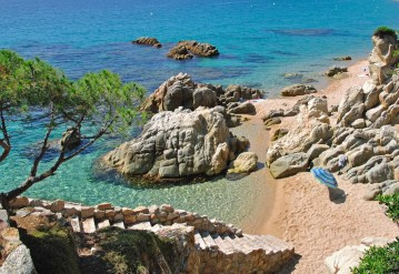 Fotos de la Costa Brava en Girona, cala en Lloret de Mar