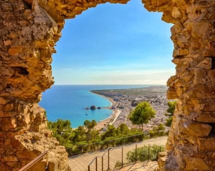 Fotos de la Costa Brava en Girona, mirador Mont Sant Joan Blanes