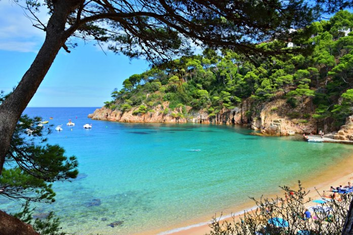 Fotos de la Costa Brava en Girona, playa Aiguablava Begur