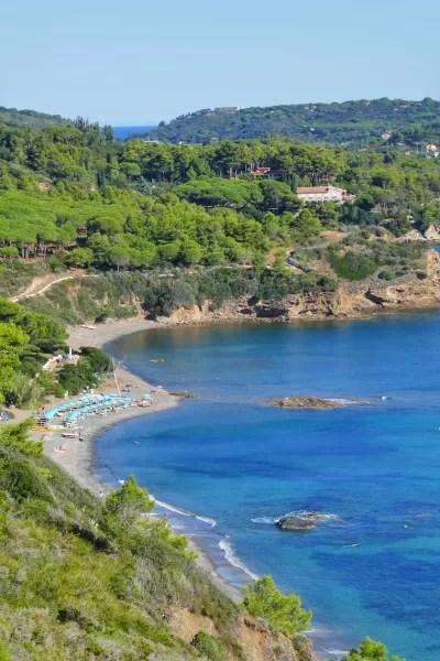 Fotos de la sla de Elba en Italia, mirador