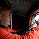 Fotos de los Fiordos Noruegos, Luca en el tren de Flam