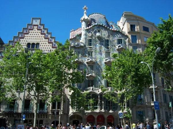 Fotos de los lugares más populares de España, Casa Batllo de Barcelona
