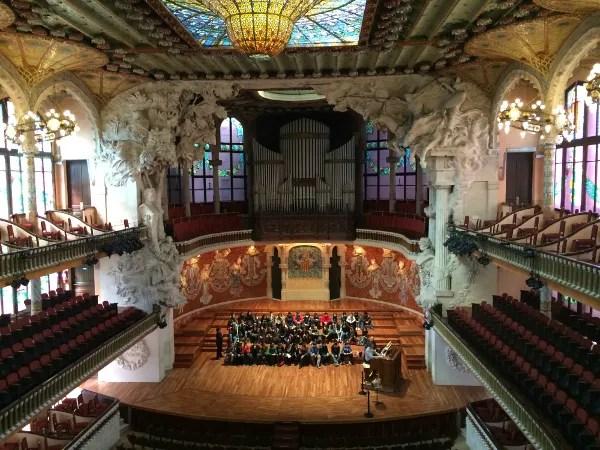 Fotos de los lugares más populares de España, Palau de la Musica de Barcelona