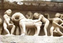 Fotos de los templos eroticos de Khajuraho, zoofilia