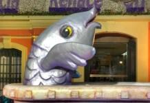 Fotos del Entierro de la Sardina de Murcia, sardina en banera