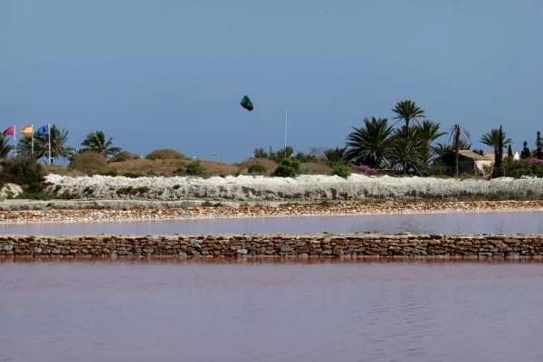 Fotos del Mar Menor en Murcia, charcas rosas de sal