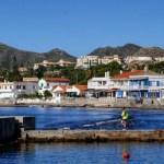 Fotos del Mar Menor en Murcia, ciclista Cabo de Palos