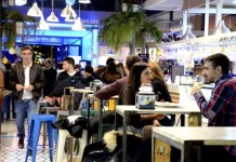 Fotos del Mercado Victoria de Córdoba, de noche