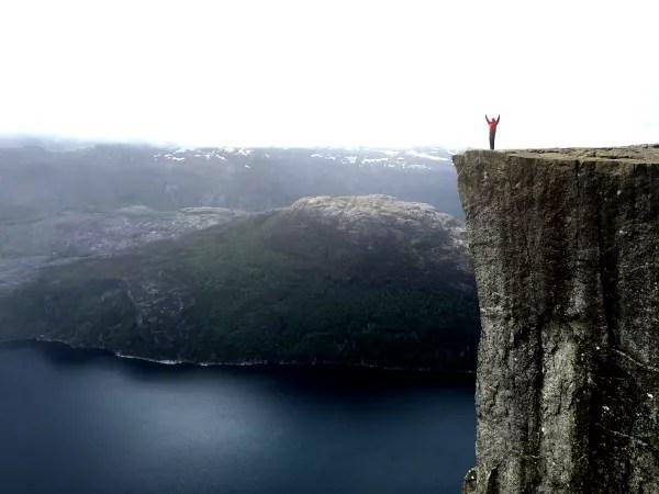 Fotos del Púlpito en los Fiordos Noruegos, Pau Preikestolen