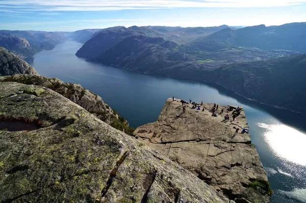Fotos del Púlpito en los Fiordos Noruegos, desde arriba