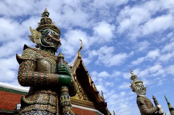 Fotos del Wat Phra Kaew y el Gran Palacio de Bangkok, guardianes