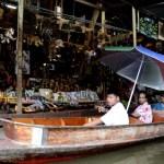 Fotos del mercado flotante de Damnoen Saduak, turistas