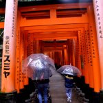 Fotos de Japon, lluvia en el Fushimi Inari