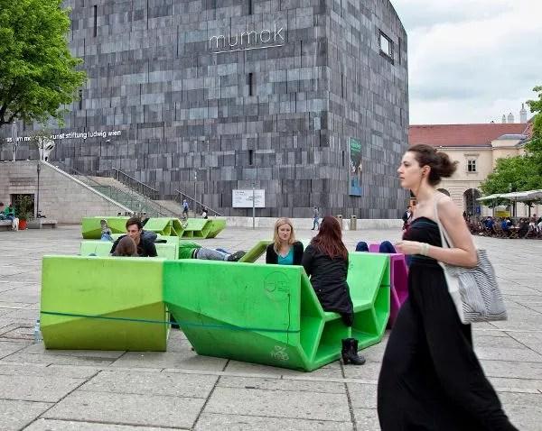 Fuera del Museumsquartier de Viena