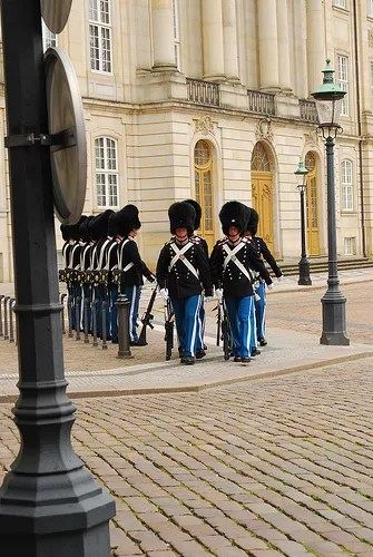 Guardia real en Amalienborg