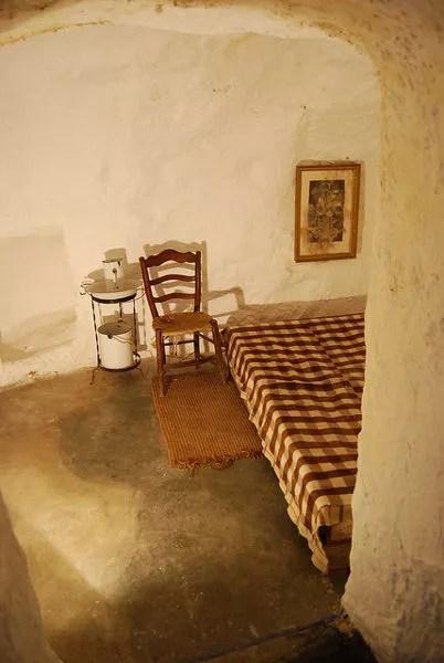 Habitación de las casas-cueva de Campo de Criptana