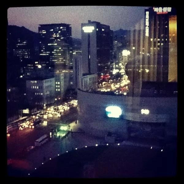 Seúl desde la ventana de The Plaza