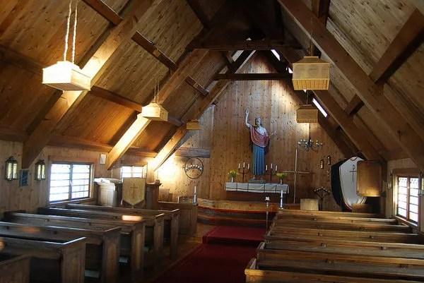 Iglesia de Nikkaluokta en Laponia