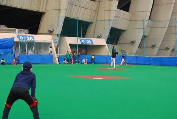Jugando al beisbol en Seúl
