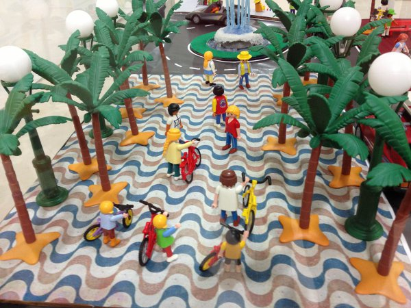 La Explanada en la Exposición de Playmobil en el Castillo de Santa Bárbara de Alicante