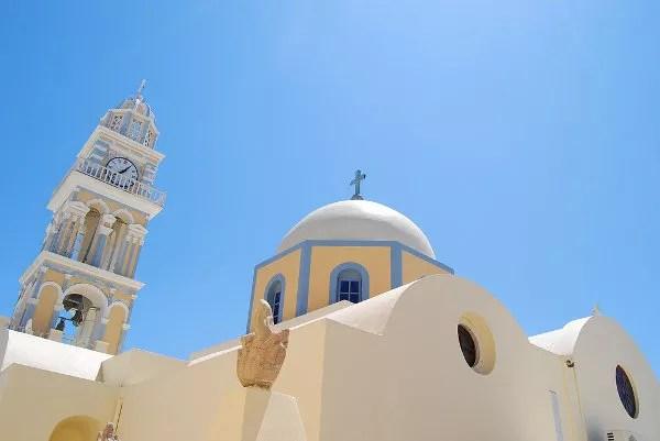 Fotos de Santorini, la iglesia católica de Fira