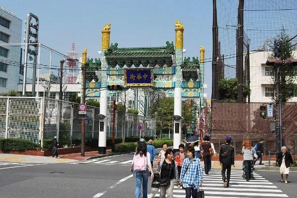 La puerta del Chinatown de Yokohama