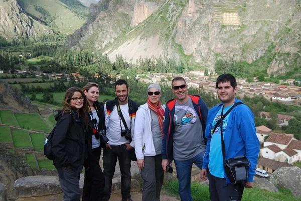 Los blogueros del #LANtrip en Ollantaytambo