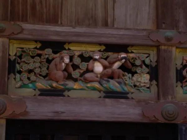 Los monos del santuario de Tosho-gu en Nikko