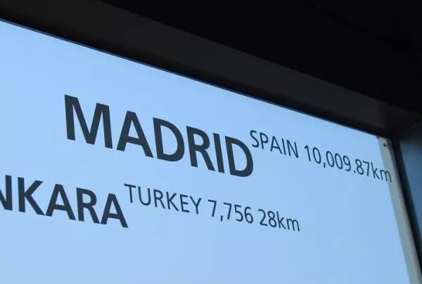 Madrid en la N Seoul Tower