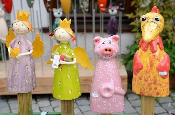 Marionetas de madera en el barrio de pescadores de Ulm