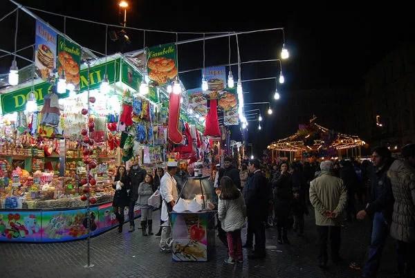 Mercadillo navideño en Piazza Navona