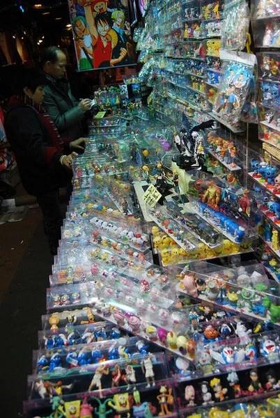 Merchandising en el mercado nocturno de Temple Street