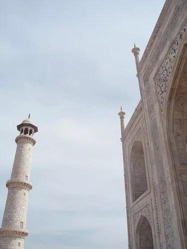 Minarete del Taj Mahal