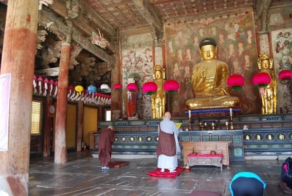 Monje del templo Bulguksa de Gyeongju