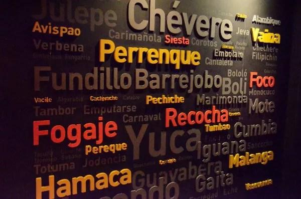 Nube de tags de palabras caribeñas