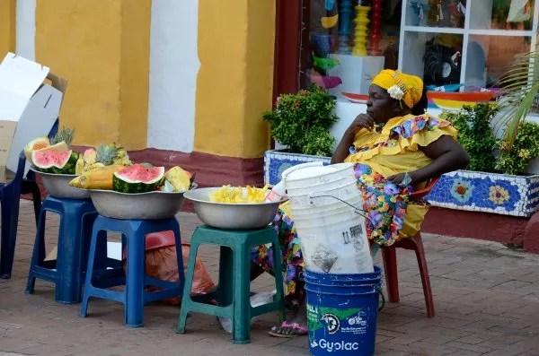 Palenquera en Cartagena de Indias