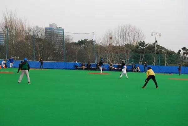 Partido de beisbol en Seúl