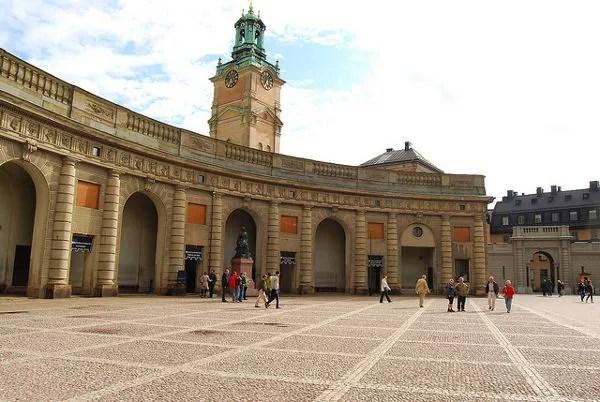 Patio del Palacio Real de Estocolmo