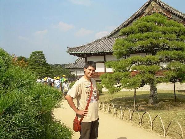 Pau en el Castillo Nijo de Kioto