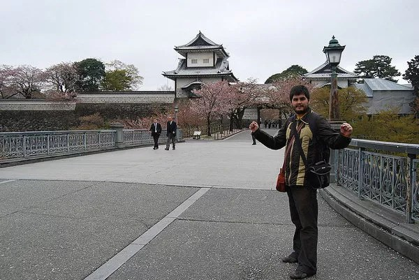 Pau en el castillo de Kanazawa
