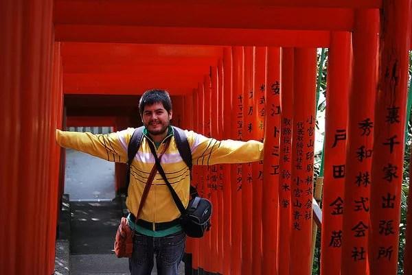 Pau entre torii rojos