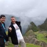 Pau y Diego en Machu Picchu
