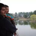 Pau y Teo en el estanque Anapji de Gyeongju