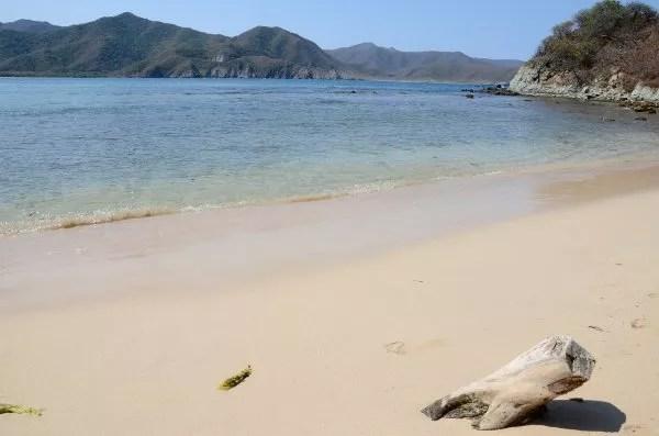 Playa Cristal en el PNN Tayrona