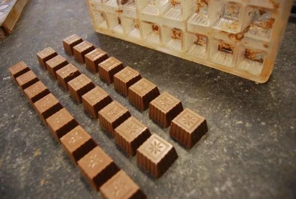 Pralinés de la chocolatería Sukerbuyc de Brujas