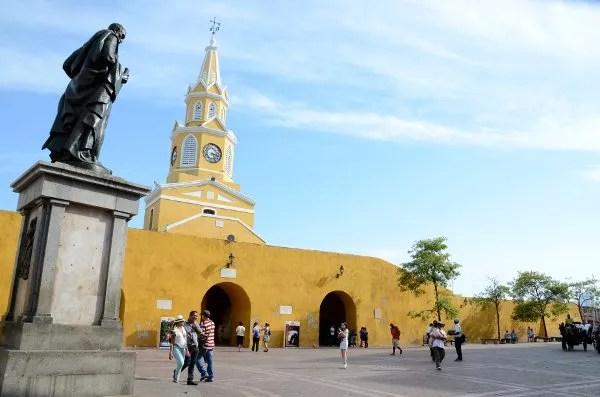 Puerta del reloj de Cartagena de Indias